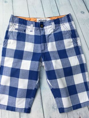 Johnnie B blue and white checked shorts with pockets size 26